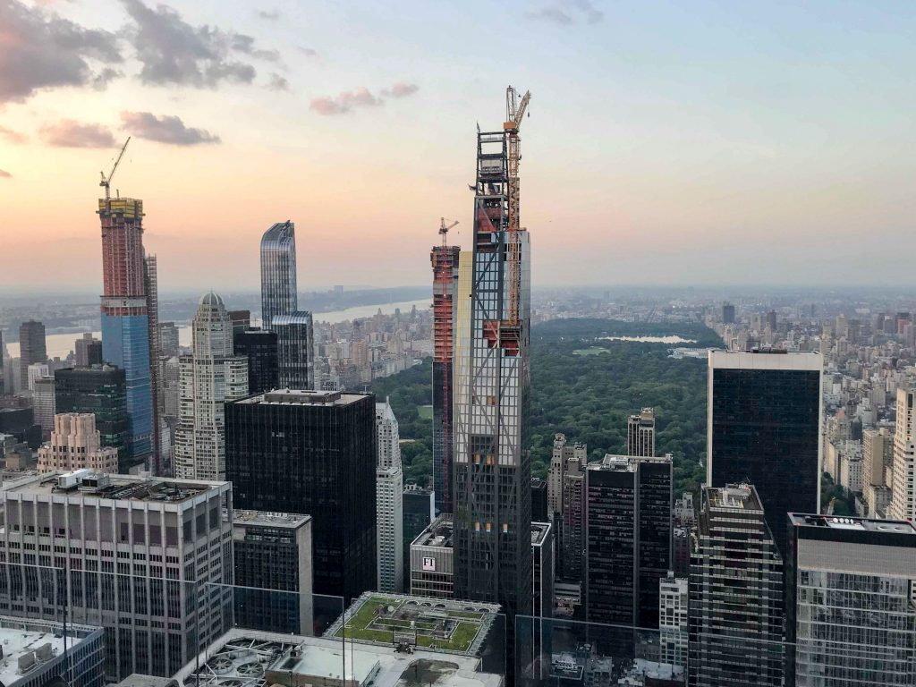 53 West 53rd Street from Rockefeller Center observation deck, image by Aaron Kho