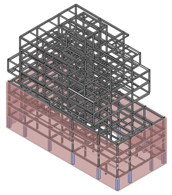 554 Prospect Place steel frame, image courtesy MADS Engineering