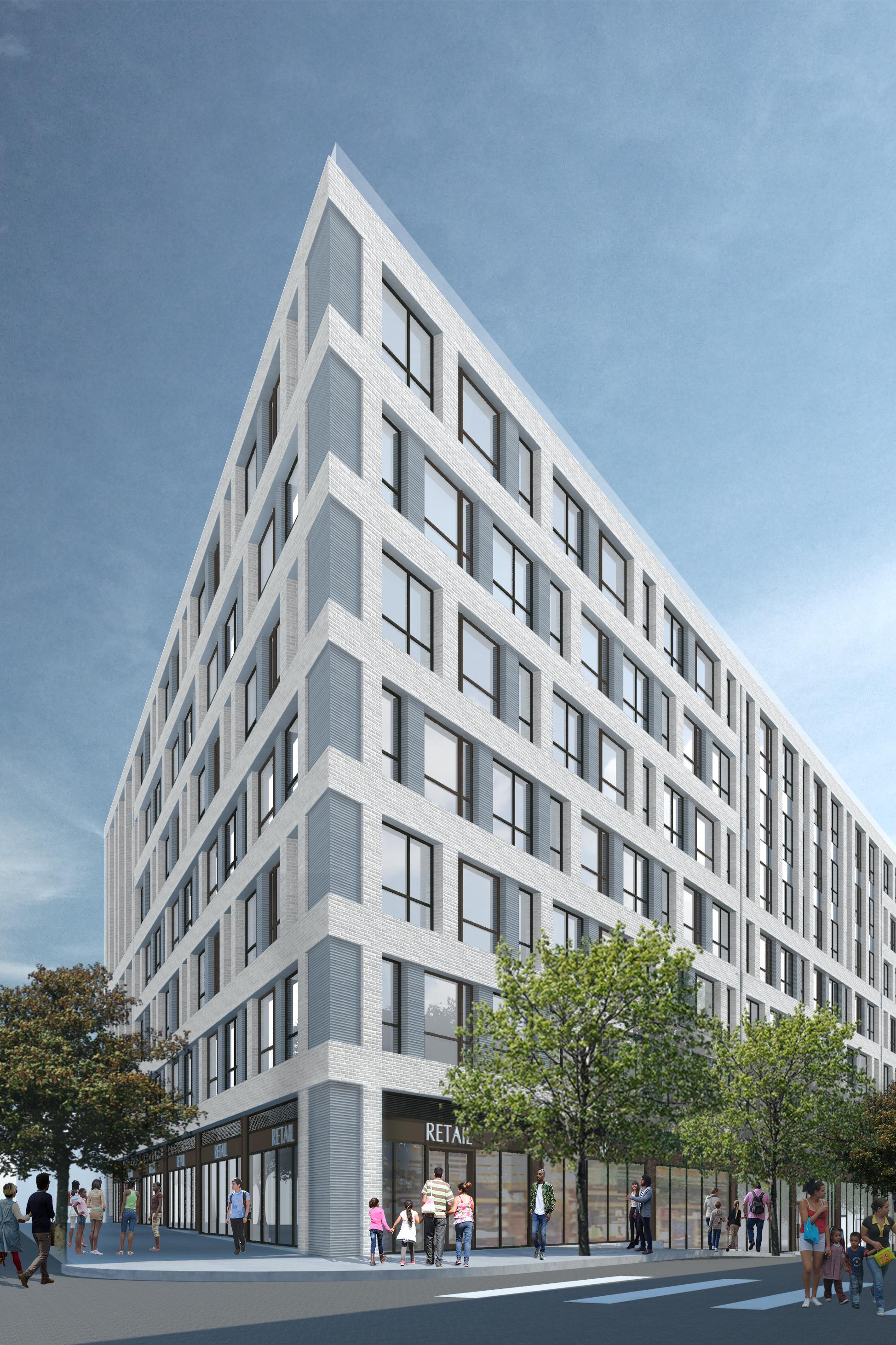 980 Westchester Avenue, rendering courtesy GF55 Parnters