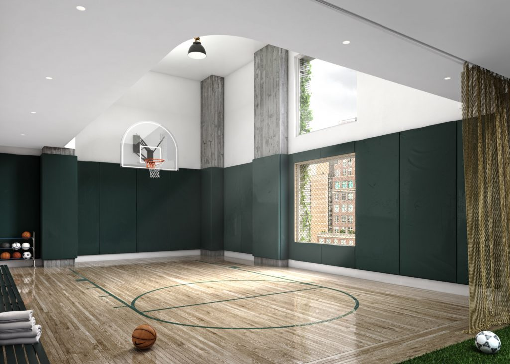 Basketball court in 180 East 88th Street, via Teaser WebsiteBasketball court in 180 East 88th Street, via Teaser Website