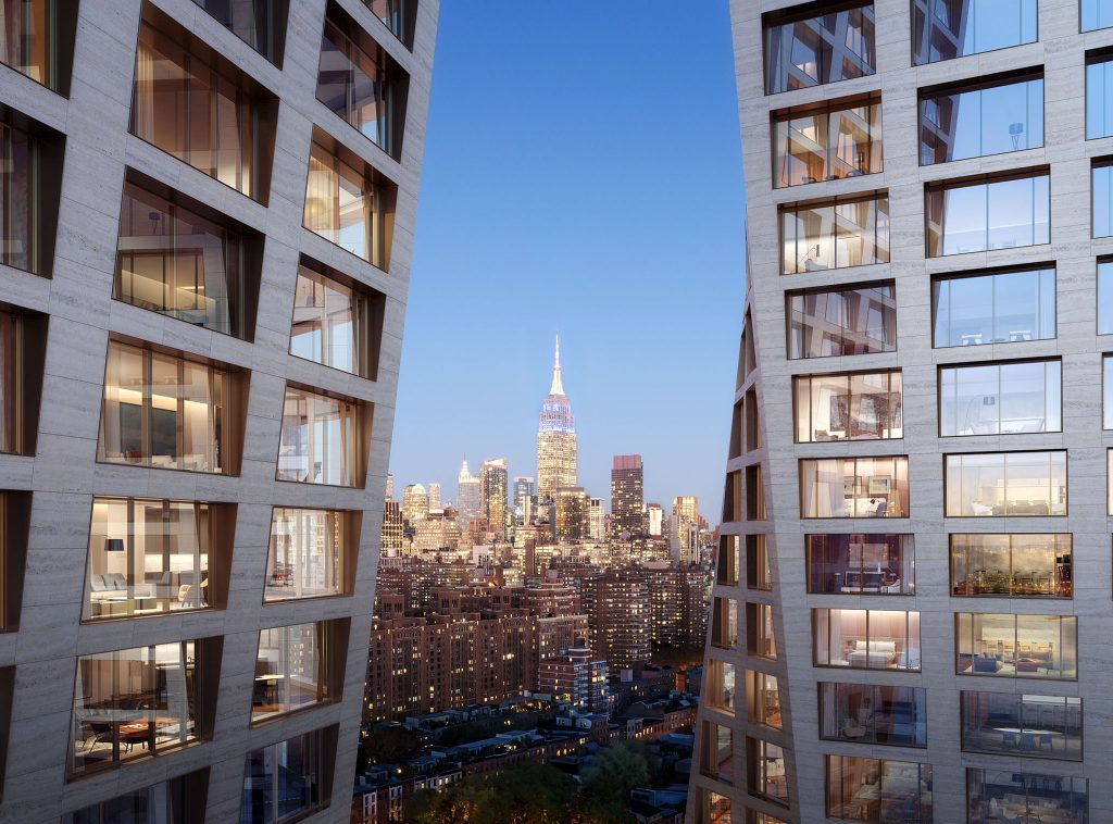 Exterior facade with the Empire State Building in view, rendering from TheXI.com