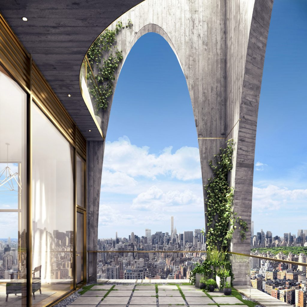 Penthouse terrace at 180 East 88th Street, via Teaser Website