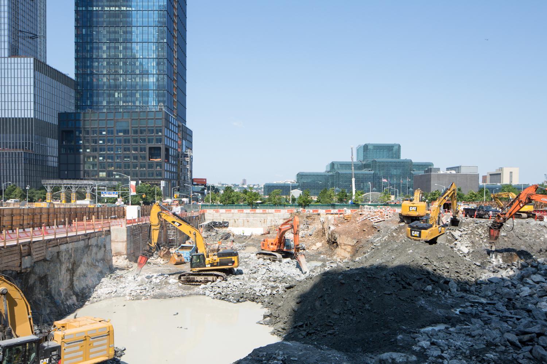 Excavation In Full Swing For Tishman Speyer S Spiraling Supertall Hudson Yards New York Yimby