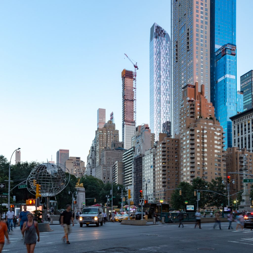 111 West 57th Street from Columbus Circle, image by Andrew Campbell Nelson