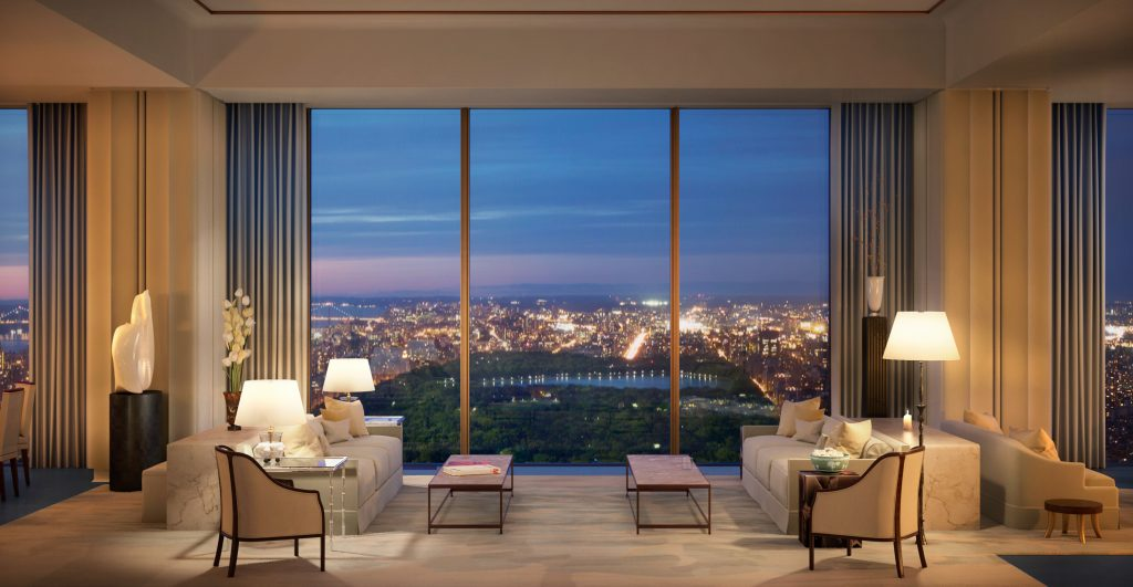 111 West 57th Street interior, rendering by Hayes Davidson