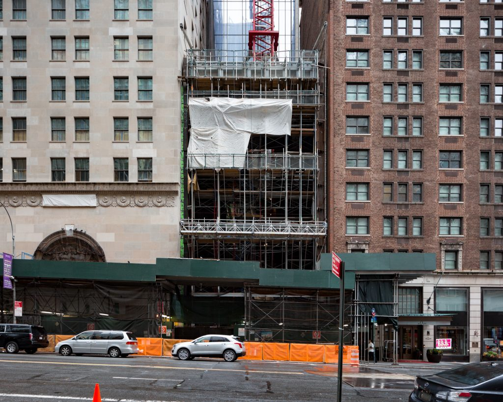 111 West 57th Street's Atrium under construction, image by Andrew Campbell Nelson