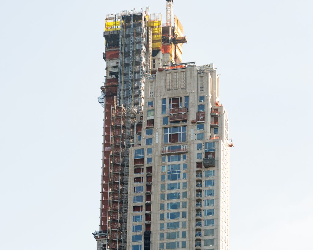 220 Central Park South close up of rooftop, image by Andrew Campbell Nelson