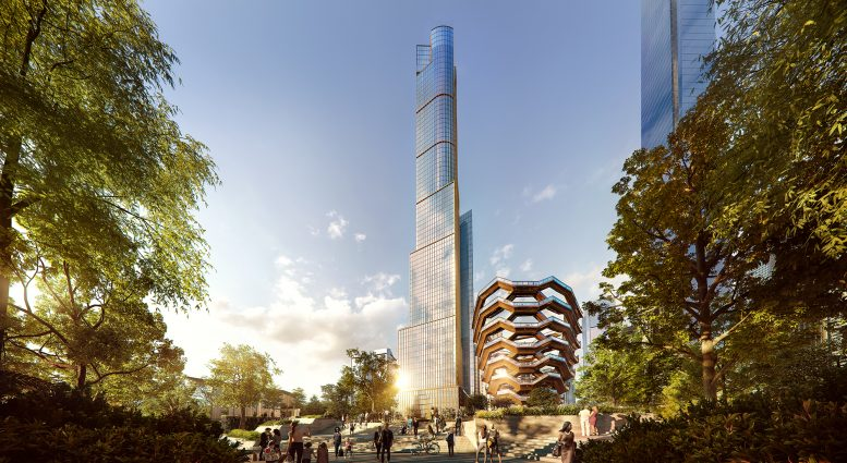 35 Hudson Yards hero view, rendering by Binyan Studios