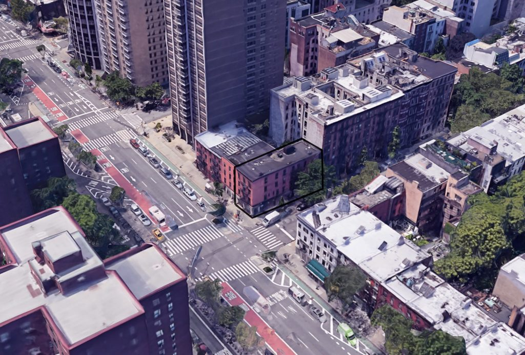 350 East 18th Street from above, via Google Maps