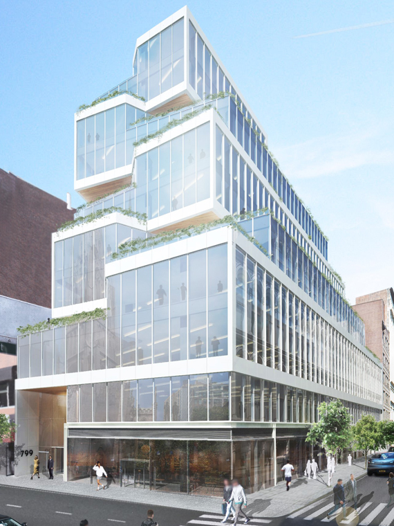 Rendering of new building at 799 Broadway, Courtesy of Normandy Realty