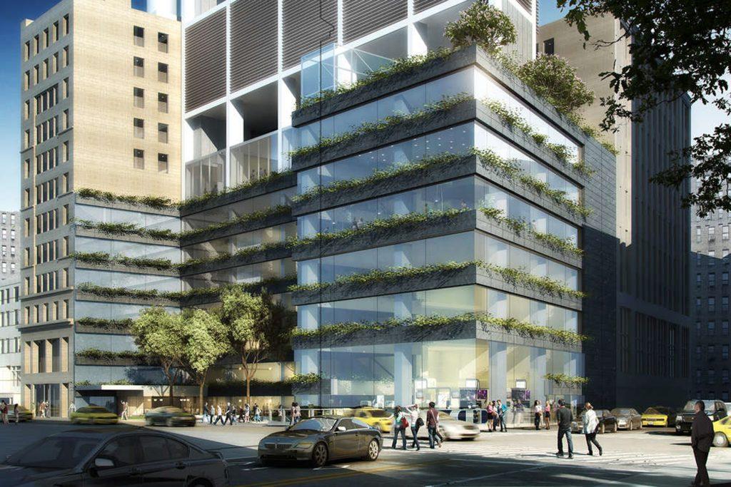 Base of 29 West 28th Street, design by Rafael Vinoly