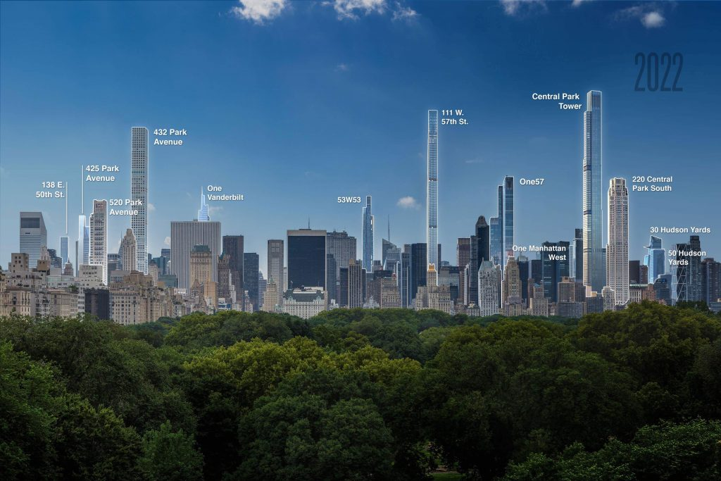 Central Park view in 2022 with labels, rendering by Jose Hernandez image by Andrew Campbell Nelson