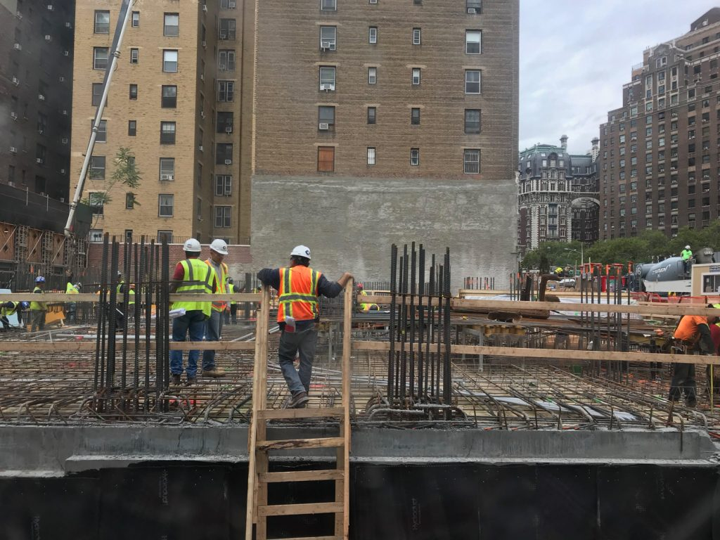 Concrete at 200 Amsterdam Avenue at ground level from earlier this week, image by fake_estate
