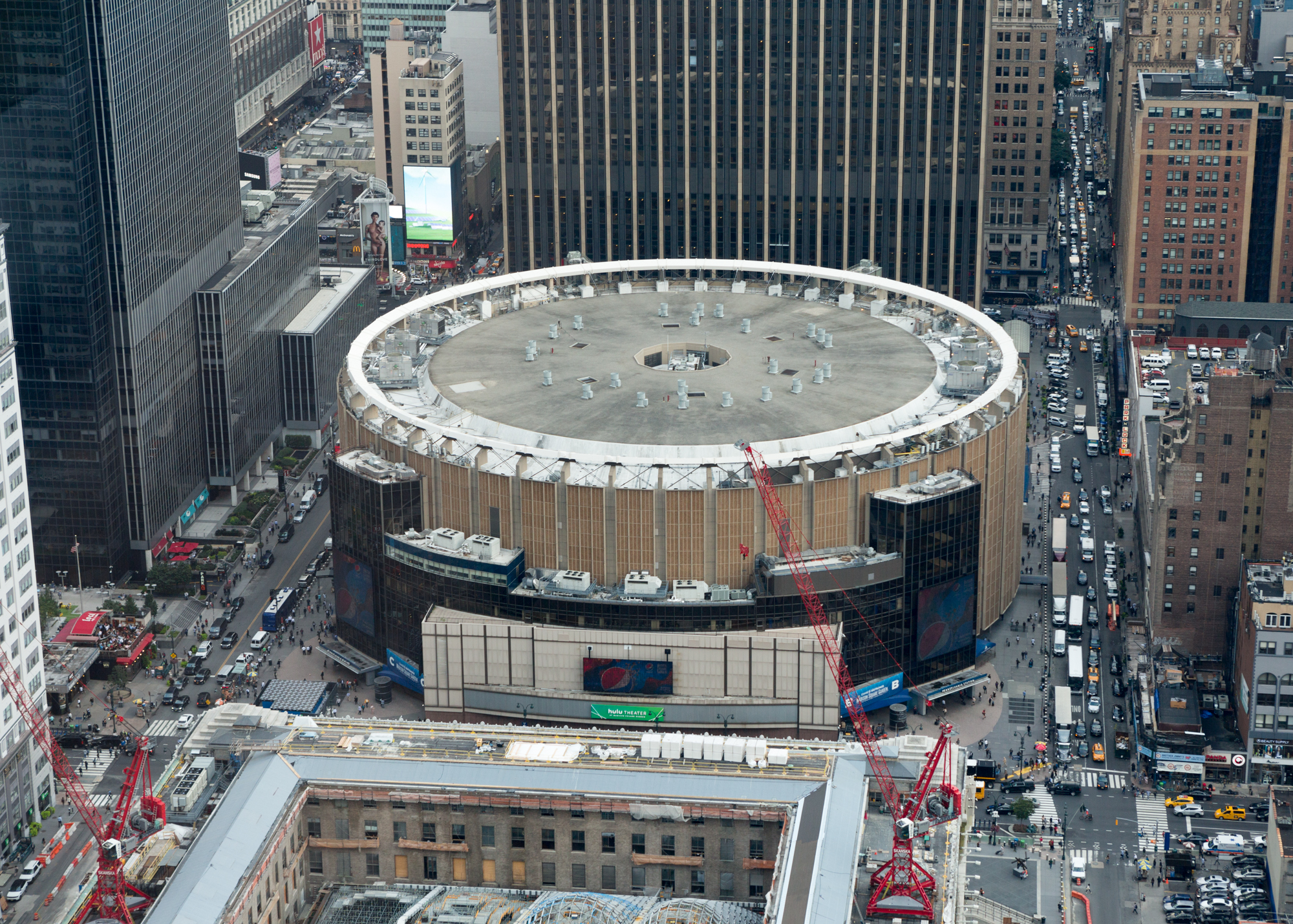 Madison Square Garden from One Manhattan West, image by Andrew Campbell Nelson