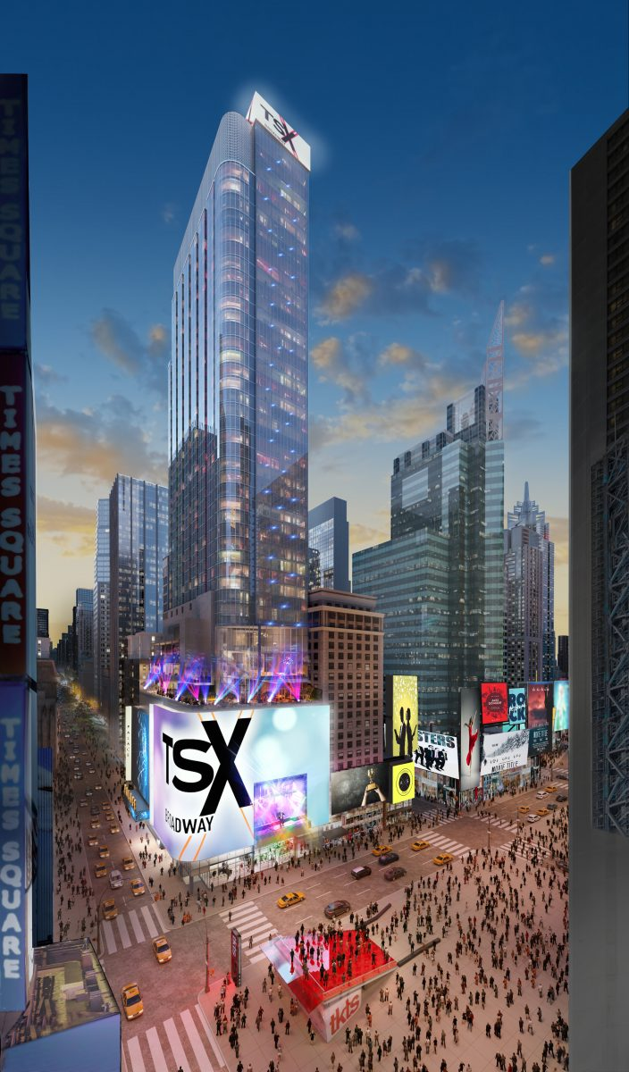 1568 Broadway, rendering courtesy of L&L Holding Company