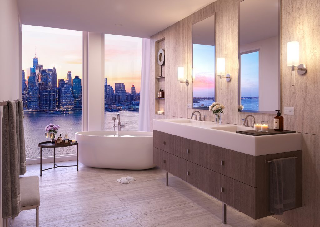 Master Bath, rendering of Quay Tower