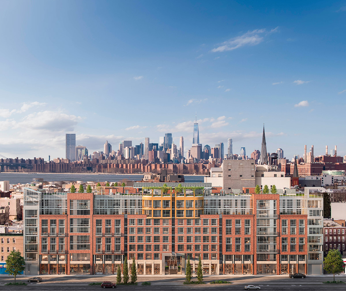 New Renderings as Leasing Launches for OTTO Greenpoint at 211 McGuiness Boulevard in Brooklyn - New York YIMBY