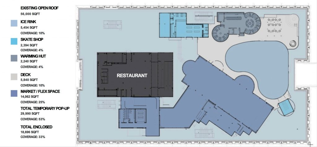 Pier 17 Winter Village Proposal floorplan, from the Rockwell Group