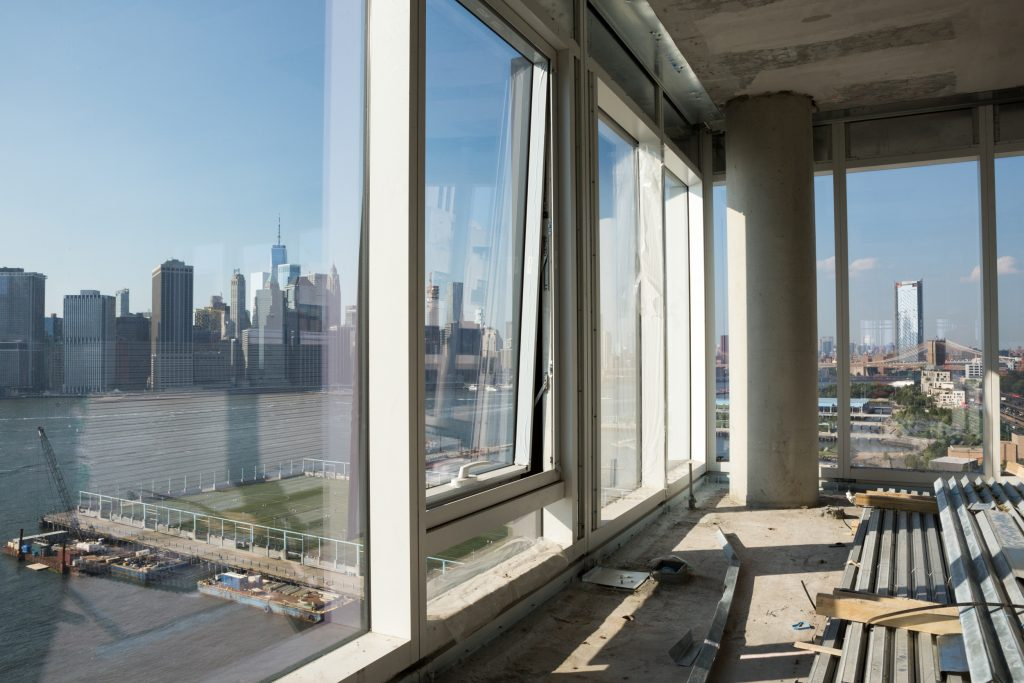 Views from inside a residencies at Quay Tower while still under construction, image by Andrew Campbell Nelson