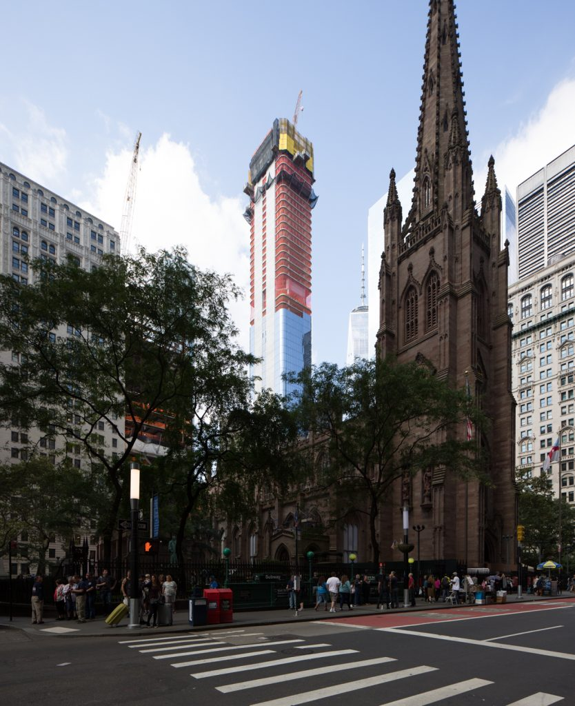 125 Greenwich Street with Trinity Church in the foreground, image by Andrew Campbell Nelson
