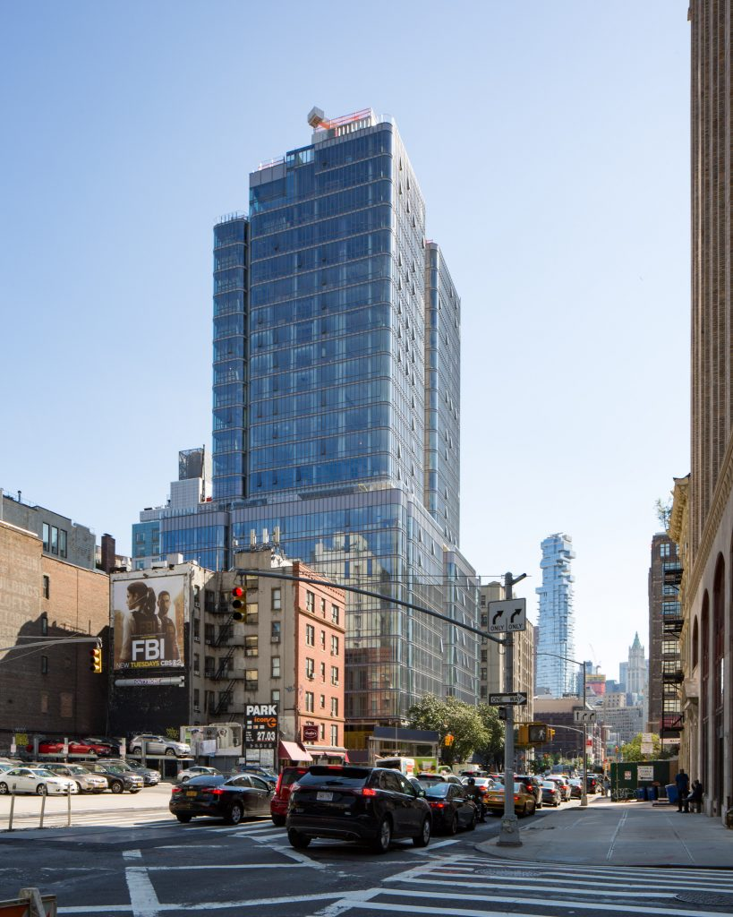 565 Broome Street with 56 Leonard and the Woolworth Building in the background, image by Andrew Campbell Nelson
