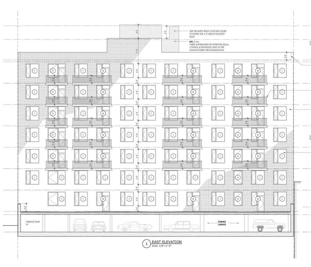 3128 Henry Hudson Parkway elevation, by C3D Architecture,