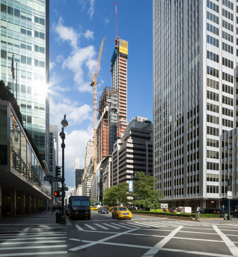 425 Park Avenue. with concrete reaching the top floor and steel just fifteen floors below, image by Andrew Campbell Nelson