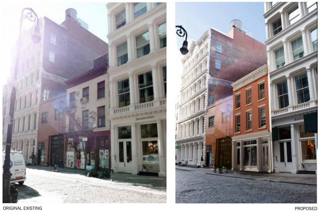 53 Mercer Avenue rendering of before and after, rendering by DXA Studio
