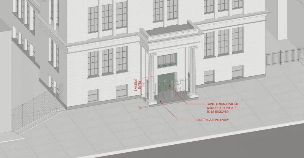 991 Saint Johns Place , entryway, rendering by PKSB