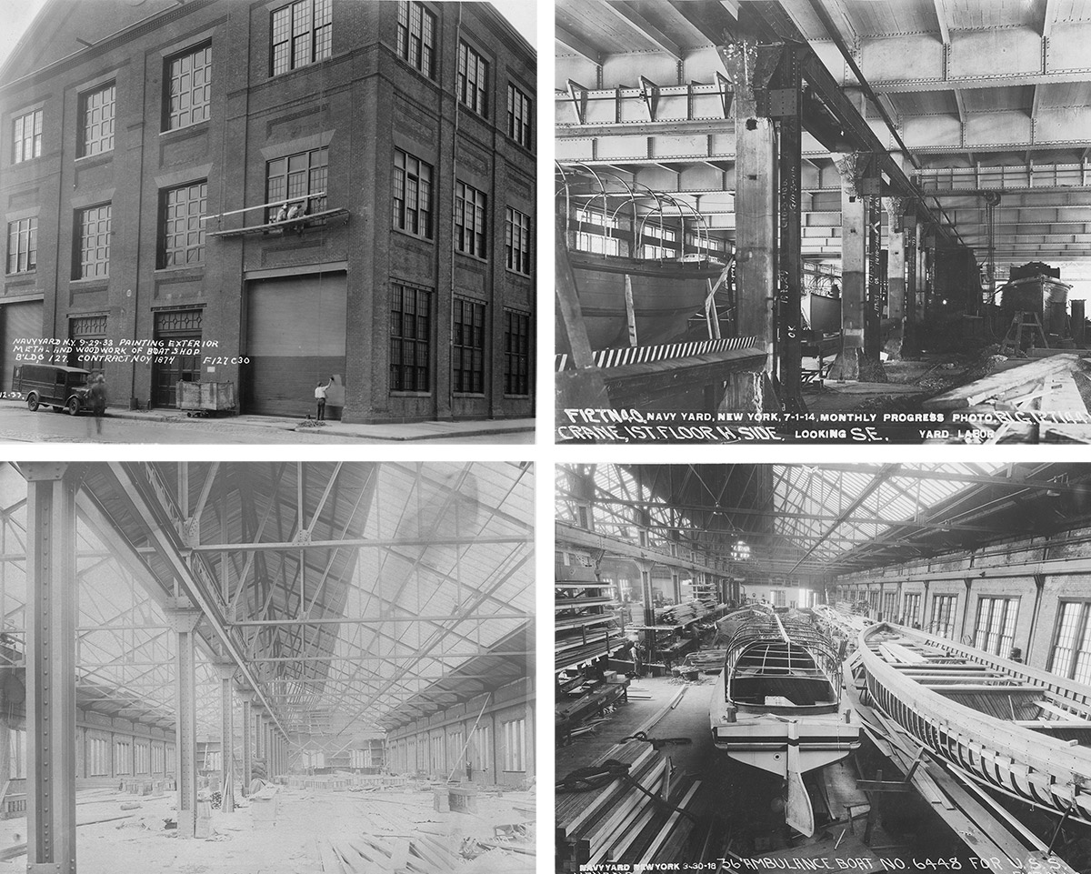 Original images of Building 127 from the Brooklyn Navy Yard Development Corporation date back to the 1930's