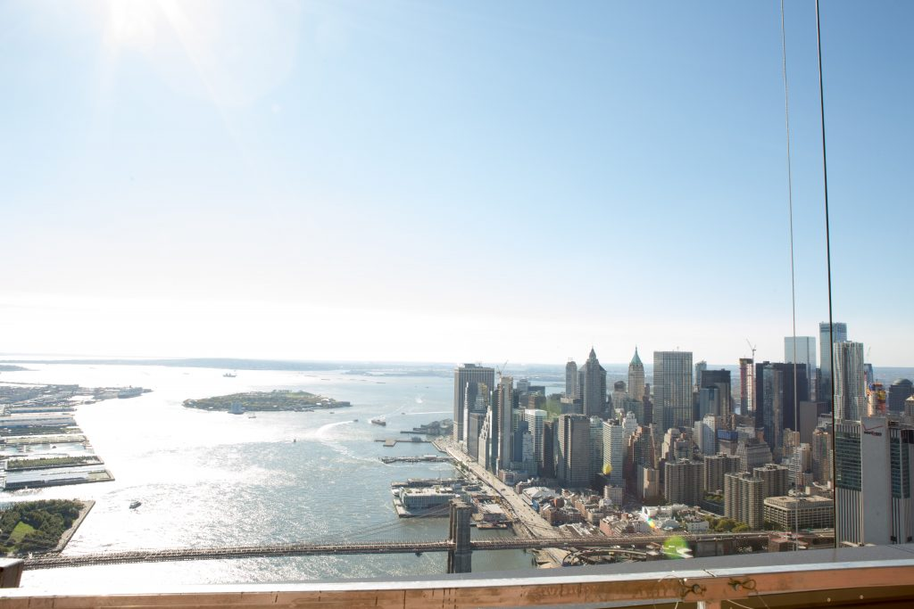 FiDi and the NYC Harbor from 1 Manhattan Square, image by Andrew Campbell Nelson