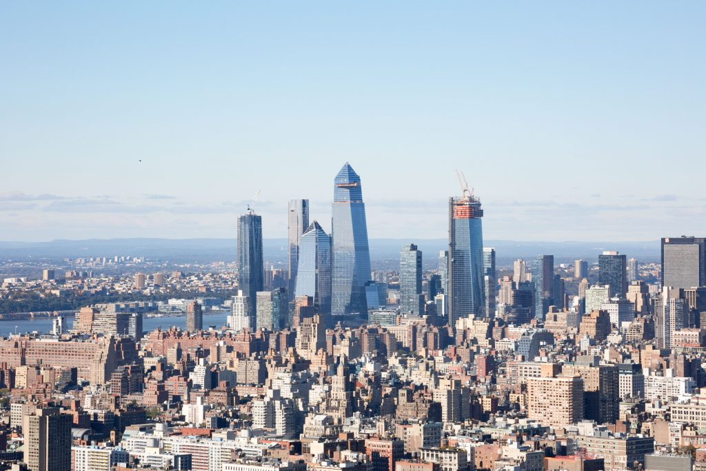 Hudson Yards and Manhattan West from 1 Manhattan Square, image by Andrew Campbell Nelson