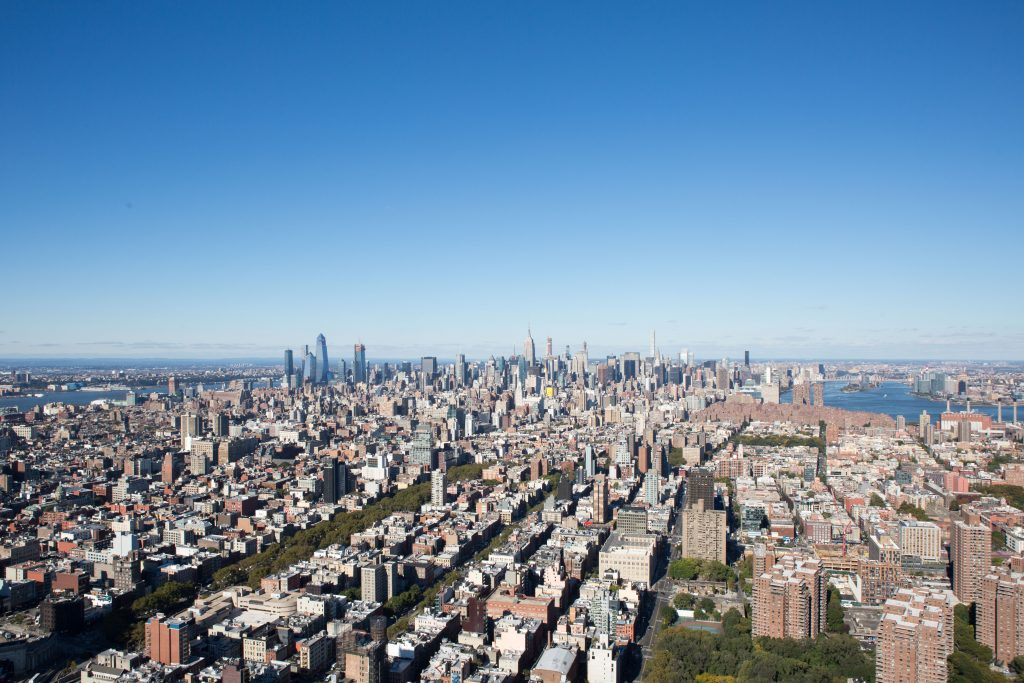 Looking North from 1 Manhattan Square, image by Andrew Campbell Nelson