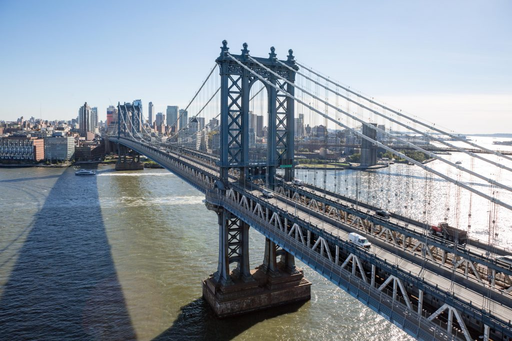 Manhattan Bridge as seen from the 24th floor at 1 Manhattan Square, image by Andrew Campbell Nelson