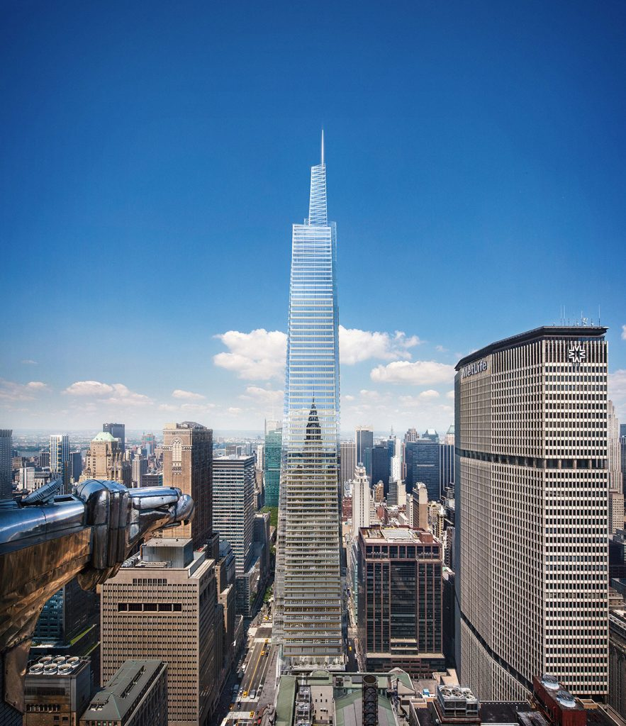 One Vanderbilt from the Chrysler Building, rendering courtesy Hines