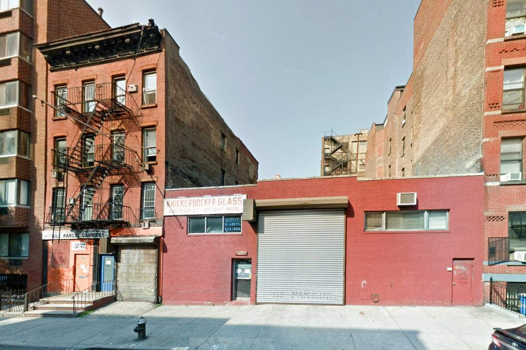 Pre-demolition 443 West 54th Street, via Google Maps