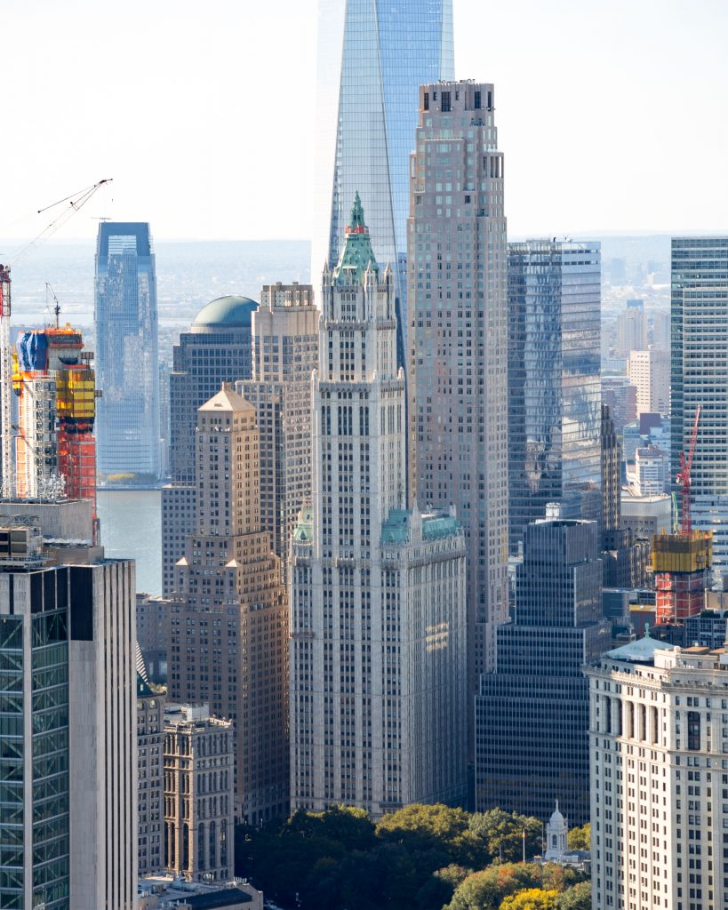 The Woolworth Building from 1 Manhattan Square, image by Andrew Campbell Nelson