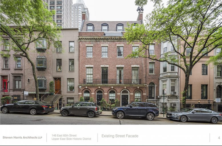 Renovation For David Rockefellers Old Townhouse At 146 East 65th Street Heads To LPC On The Upper Side