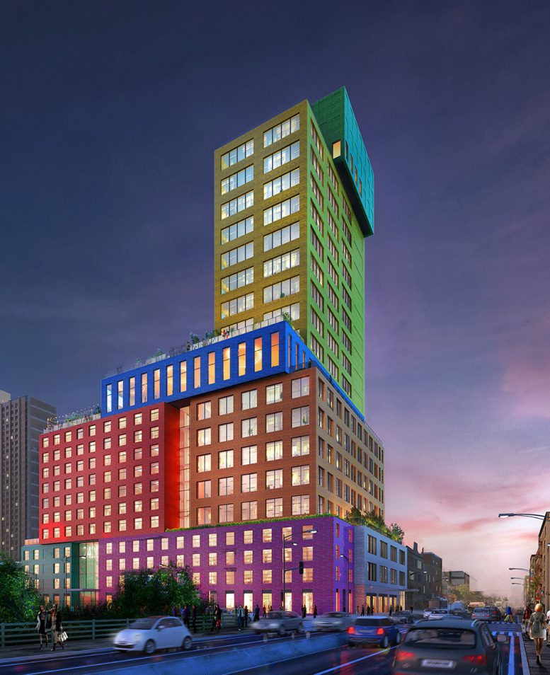 Rendering Of Radio Tower Hotel At 2420 Amsterdam Avenue
