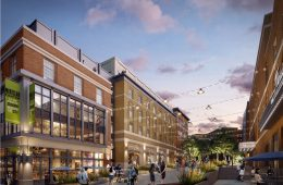 Plaza Rendering of Arts & Entertainment District in Downtown Montclair, New Jersey