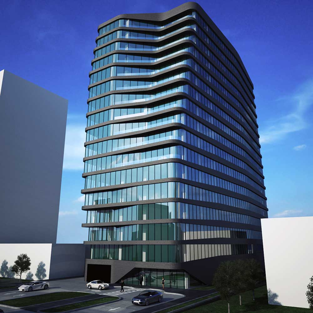 Rendering of 260 South Harrison Street - INOA Architecture