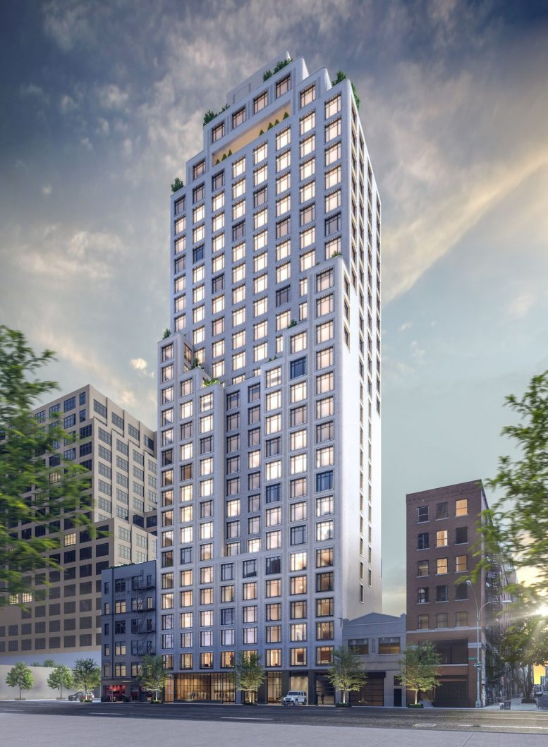 Rendering of Greenwich West at 110 Charlton Street (Courtesy Familiar Control)