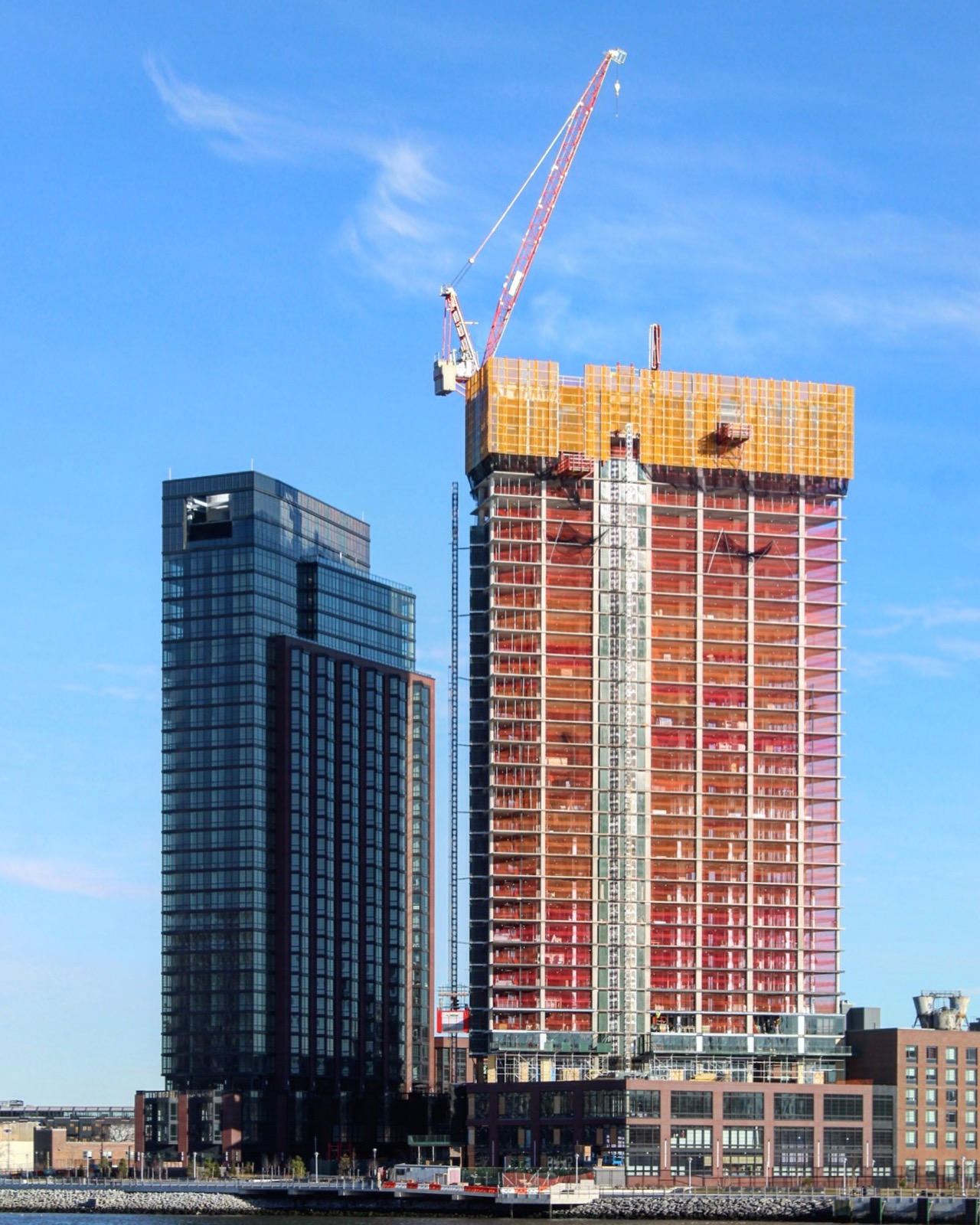Greenpoint Landing Mega-Project's 41 Blue Slip Approaches Topping-Out