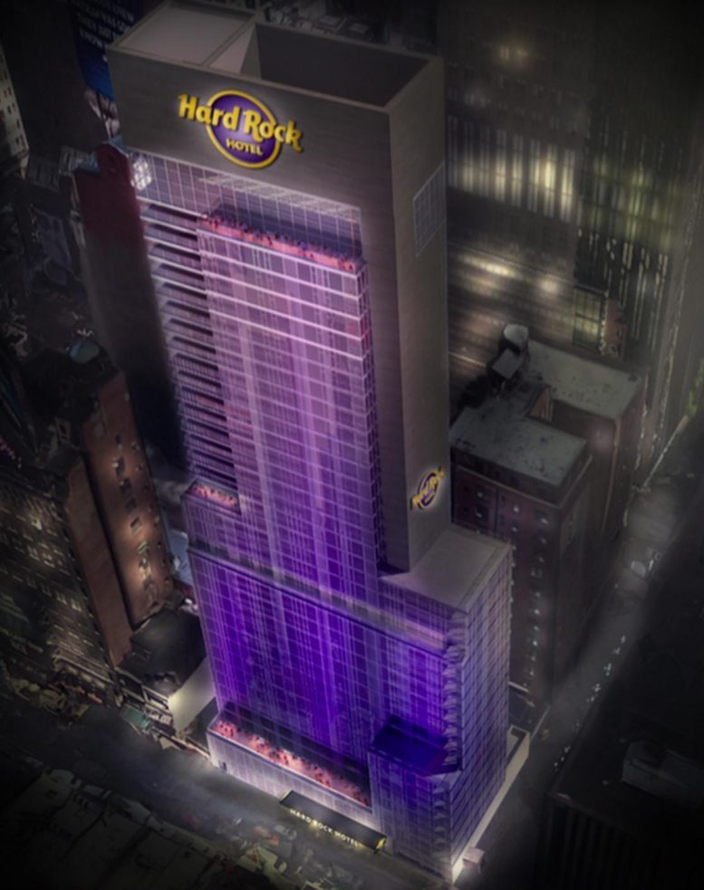 Times Square's Hard Rock Hotel Gets Ready to Rise at 159 West 48th