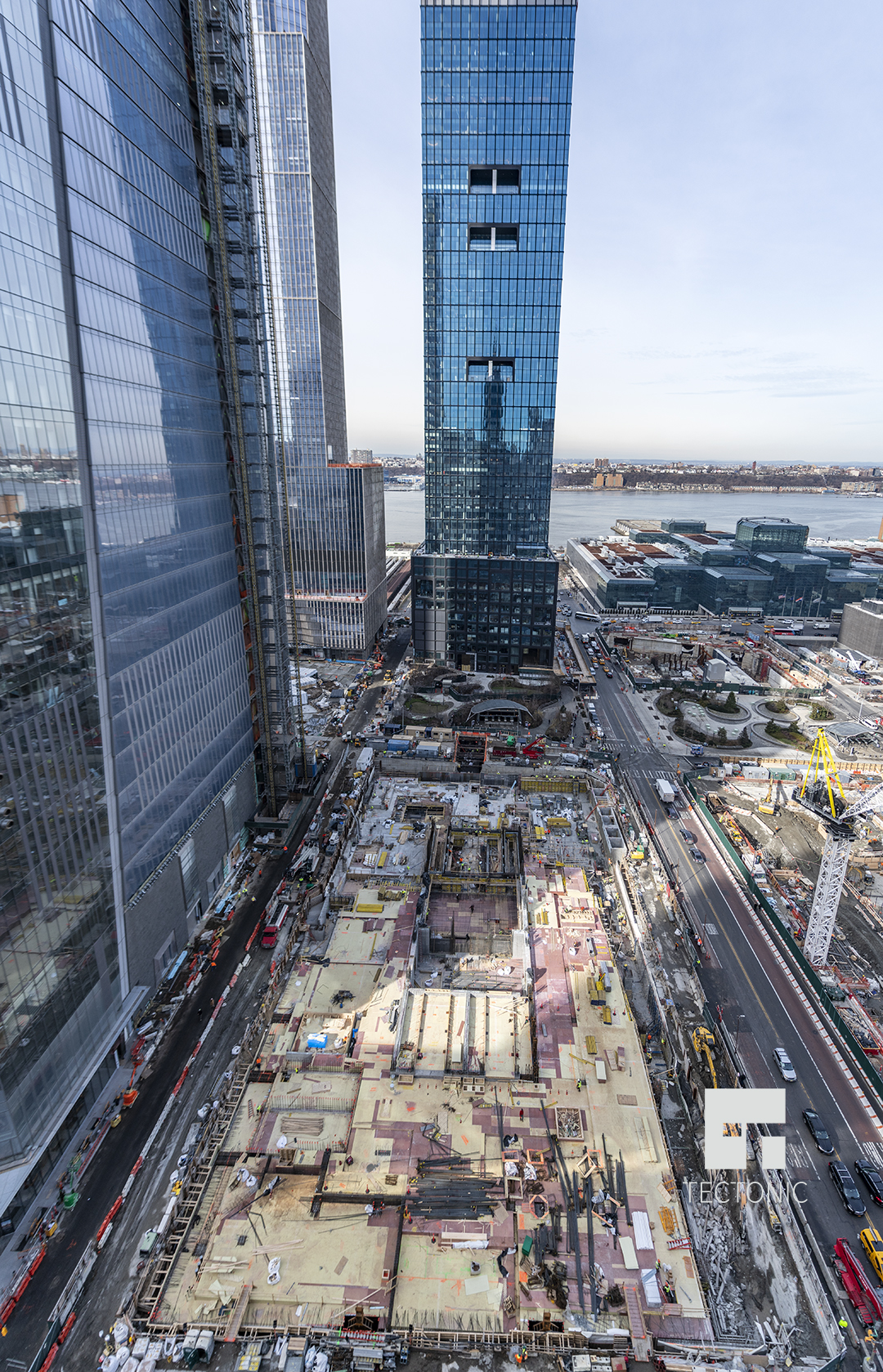 Future Supertall 50 Hudson Yards Reaches Street Level In