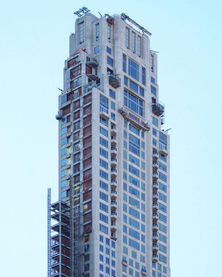 Robert Stern 15 Central Park West: 220 Central Park South's Exterior Mechanical Elevator