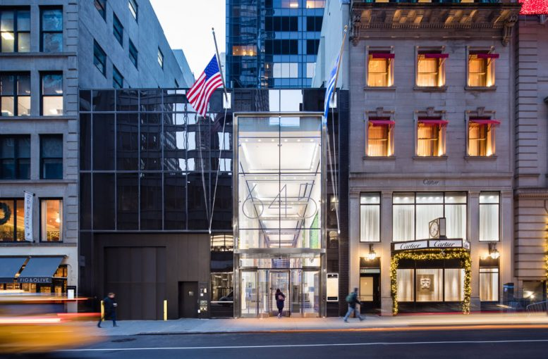 Gleaming Ground Floor Public Plaza Debuts Within Manhattan S Olympic Tower At 645 Fifth Avenue In Midtown New York Yimby