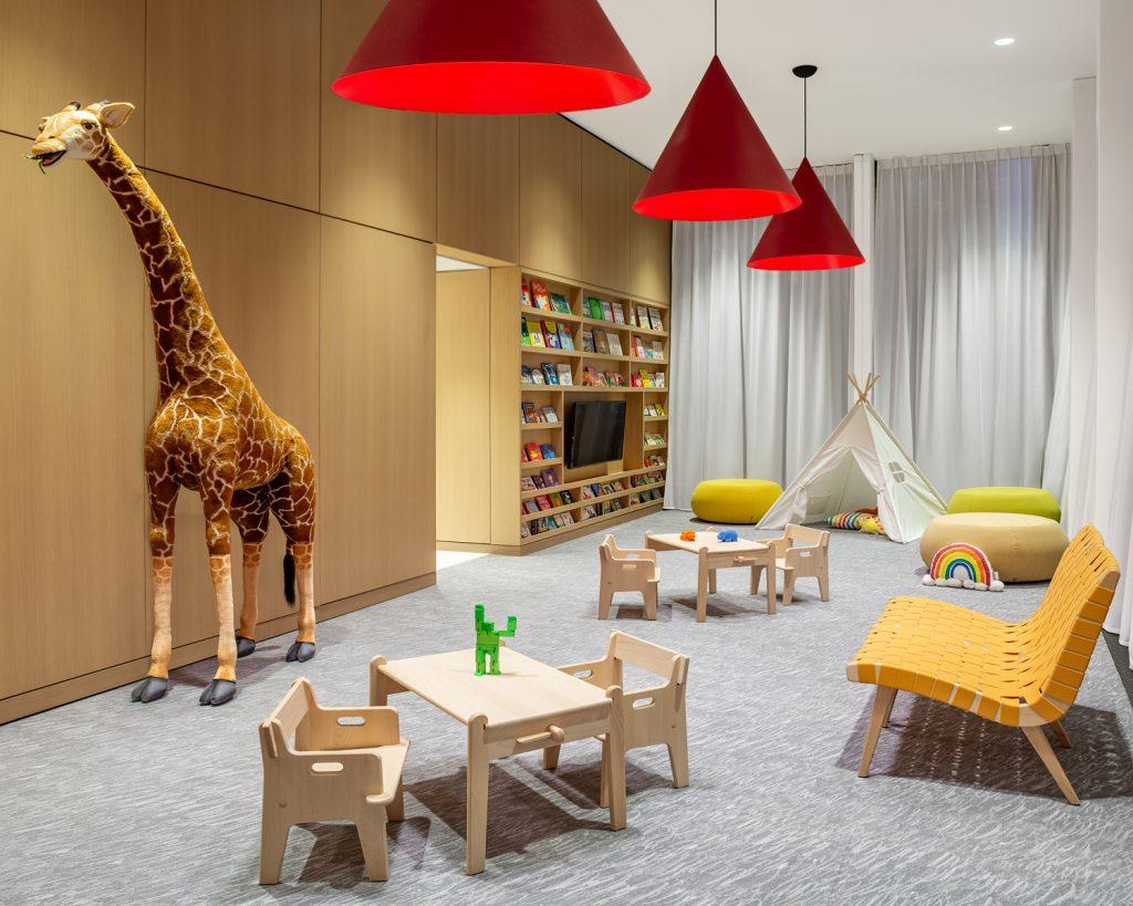 Playroom at One United Nations Park. Photo via Robert_Granoff
