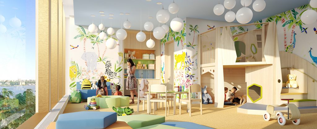 35 Hudson Yards Kids Room. Courtesy of Related-Oxford