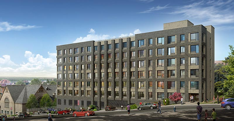 Rendering of Dayspring Commons - Westhab Inc.